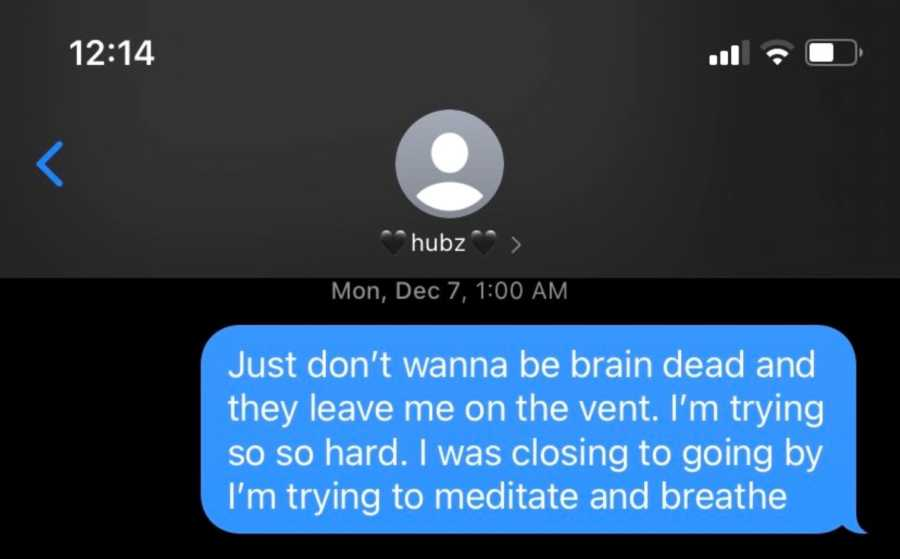 Pregnant woman suffering from post-covid pneumonia shares emotional text she sent to her husband while in the hospital