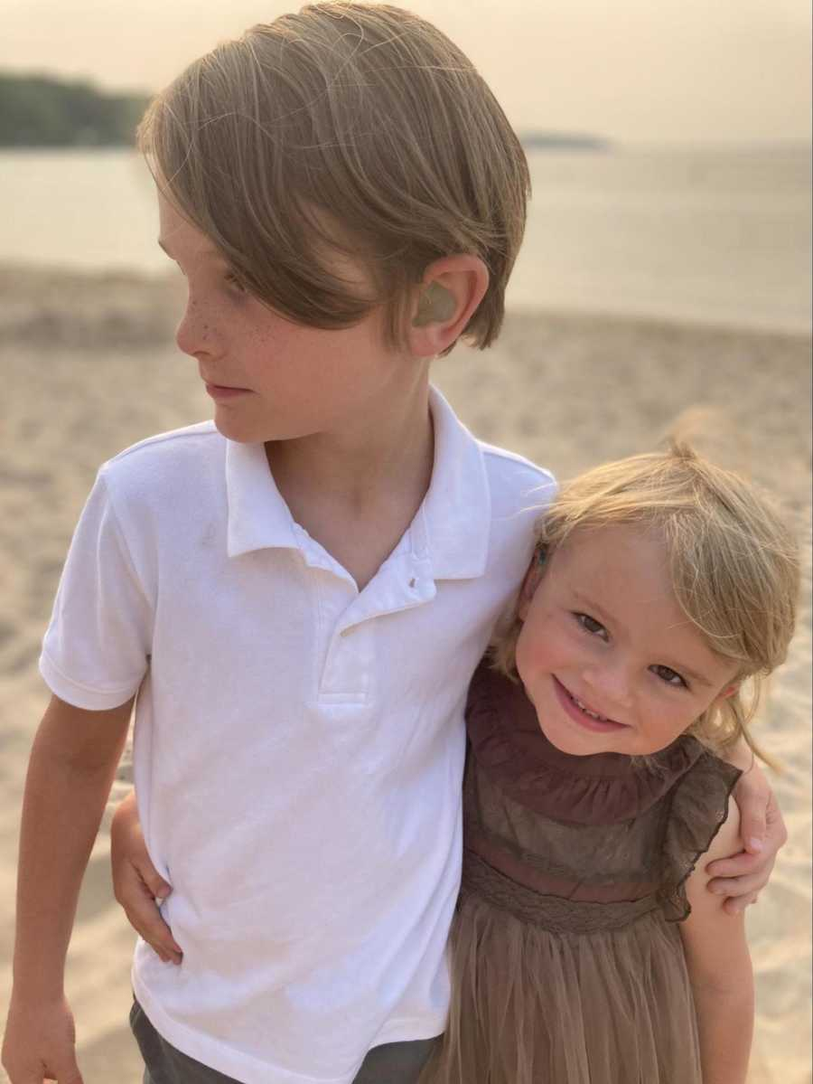 siblings with hearing aids