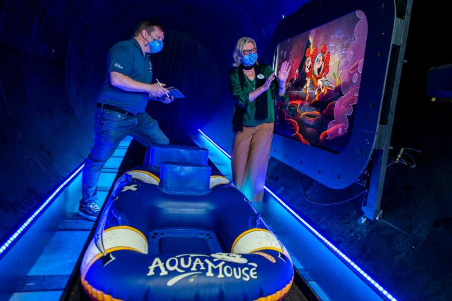 First look at Disney's first attraction at sea, the Aquamouse ride aboard the Disney Wish cruise