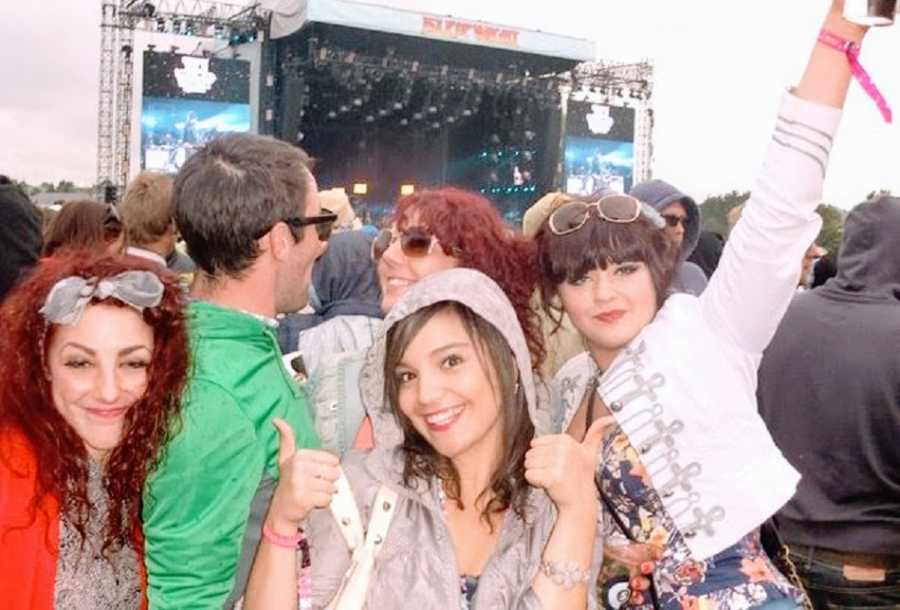 Woman at a concert with friends