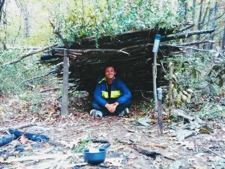Homeless man living in the woods of Tennesse