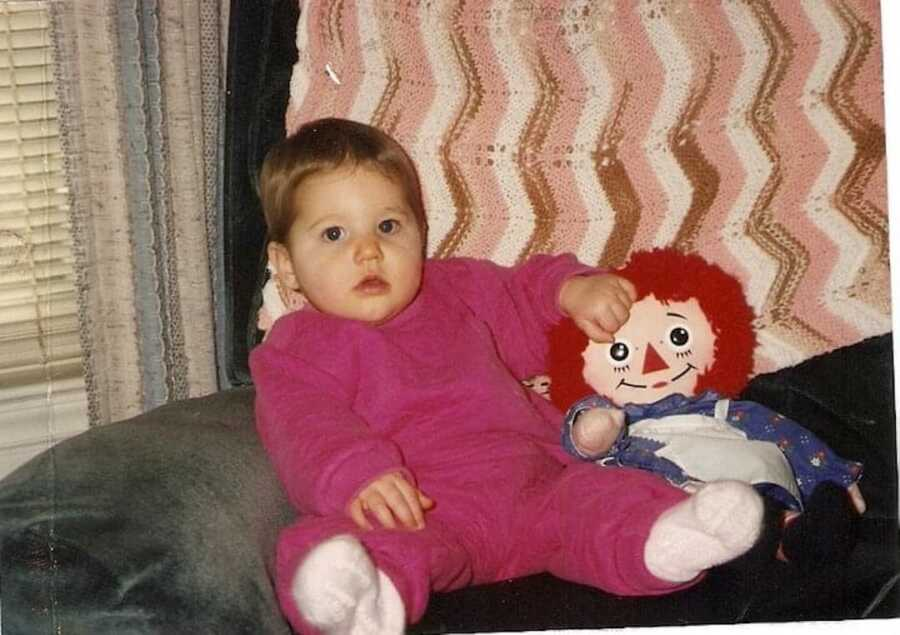 picture of woman when she was a baby