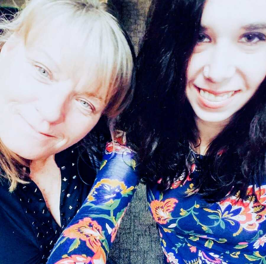 woman with epilepsy and her mother