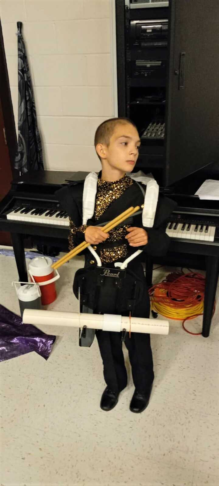 boy with instruments