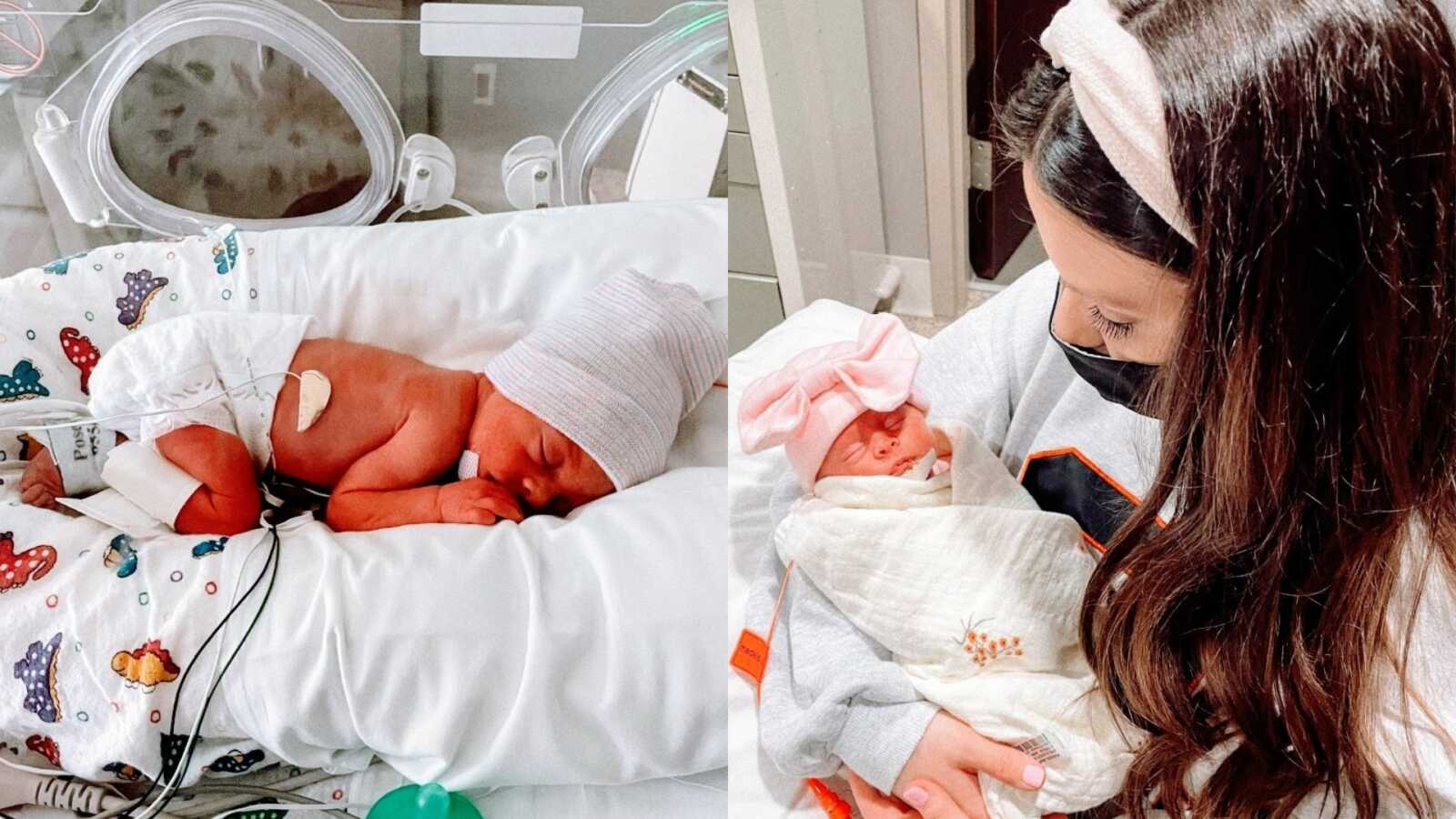 Mom shares photos of preemie daughter's time spent in the NICU