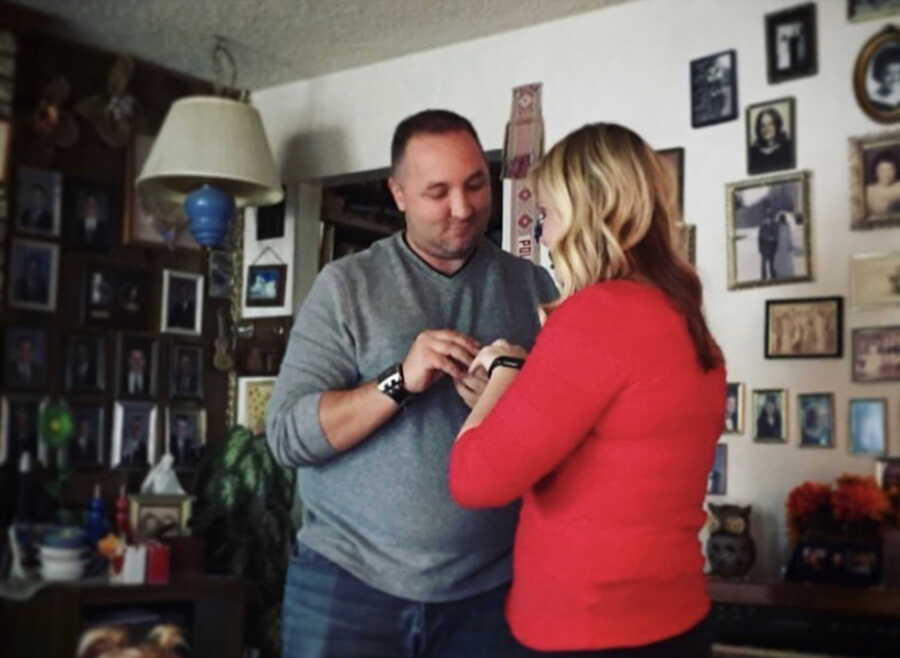 new lover proposes to mom