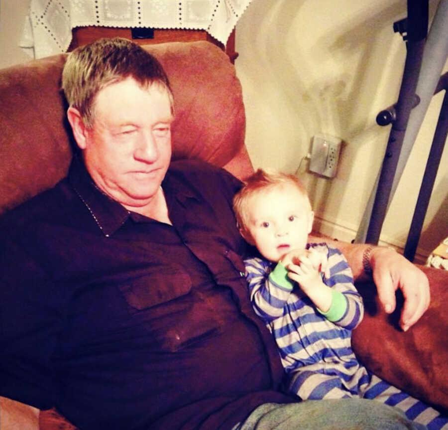 The grandfather his grandchild