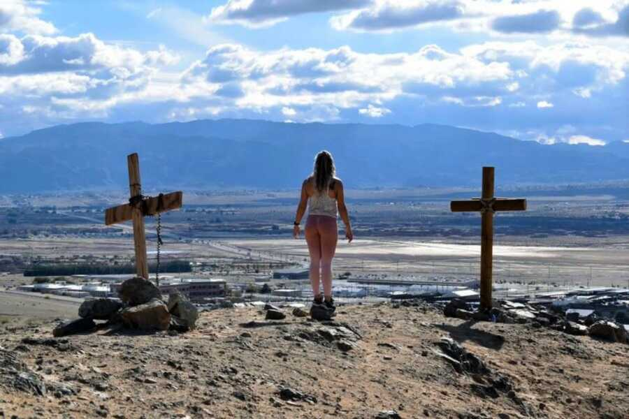 Woman on a mountian
