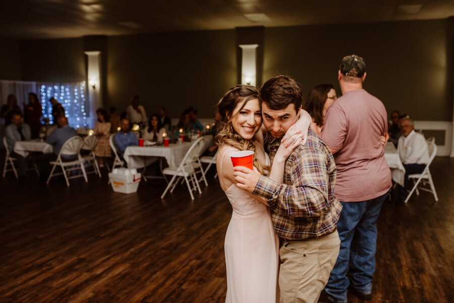 woman and husband having fun together dancing without the thought of a baby