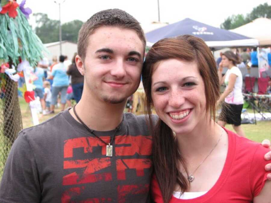 teenager and her boyfriend in 2011