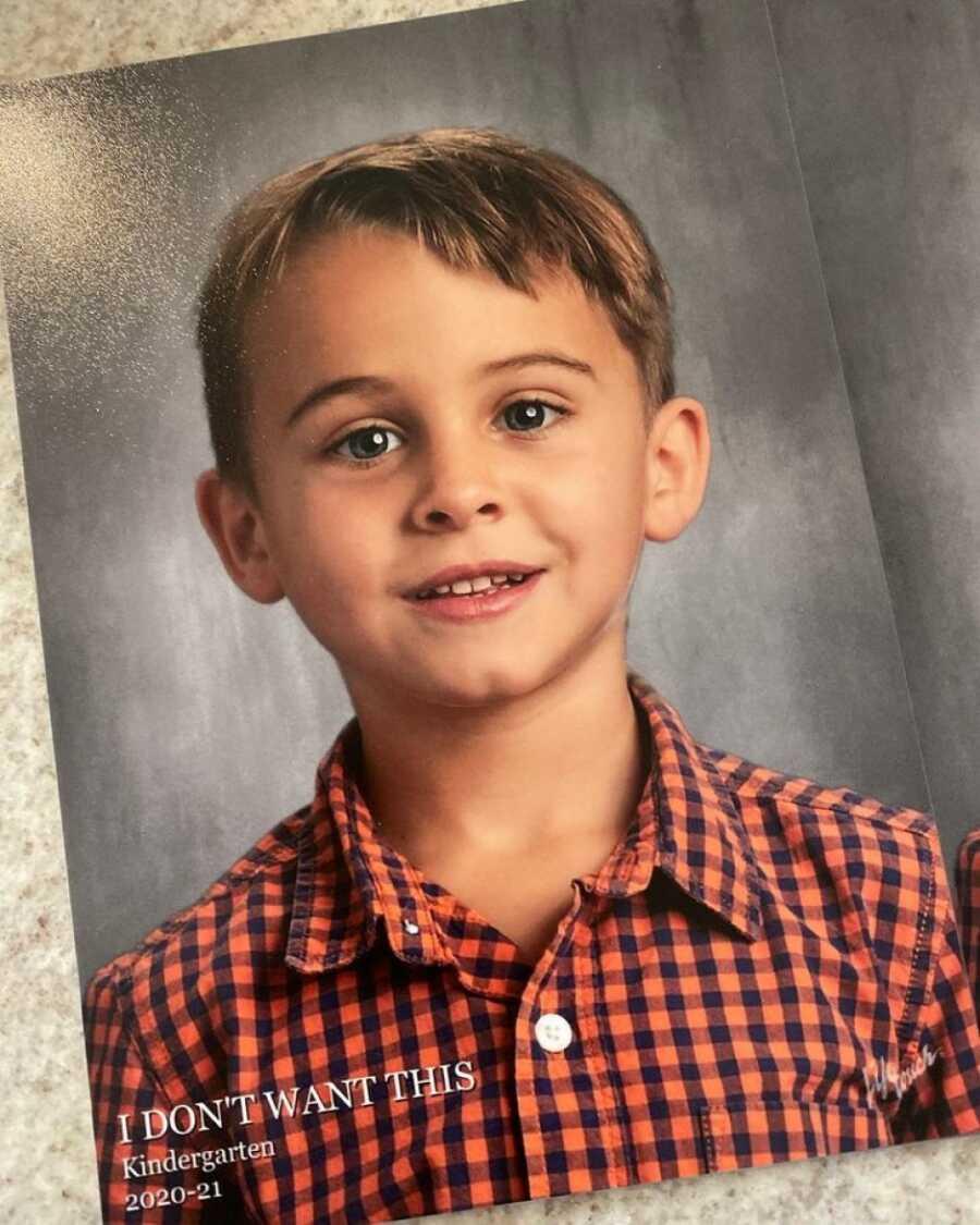 Boy in school photo