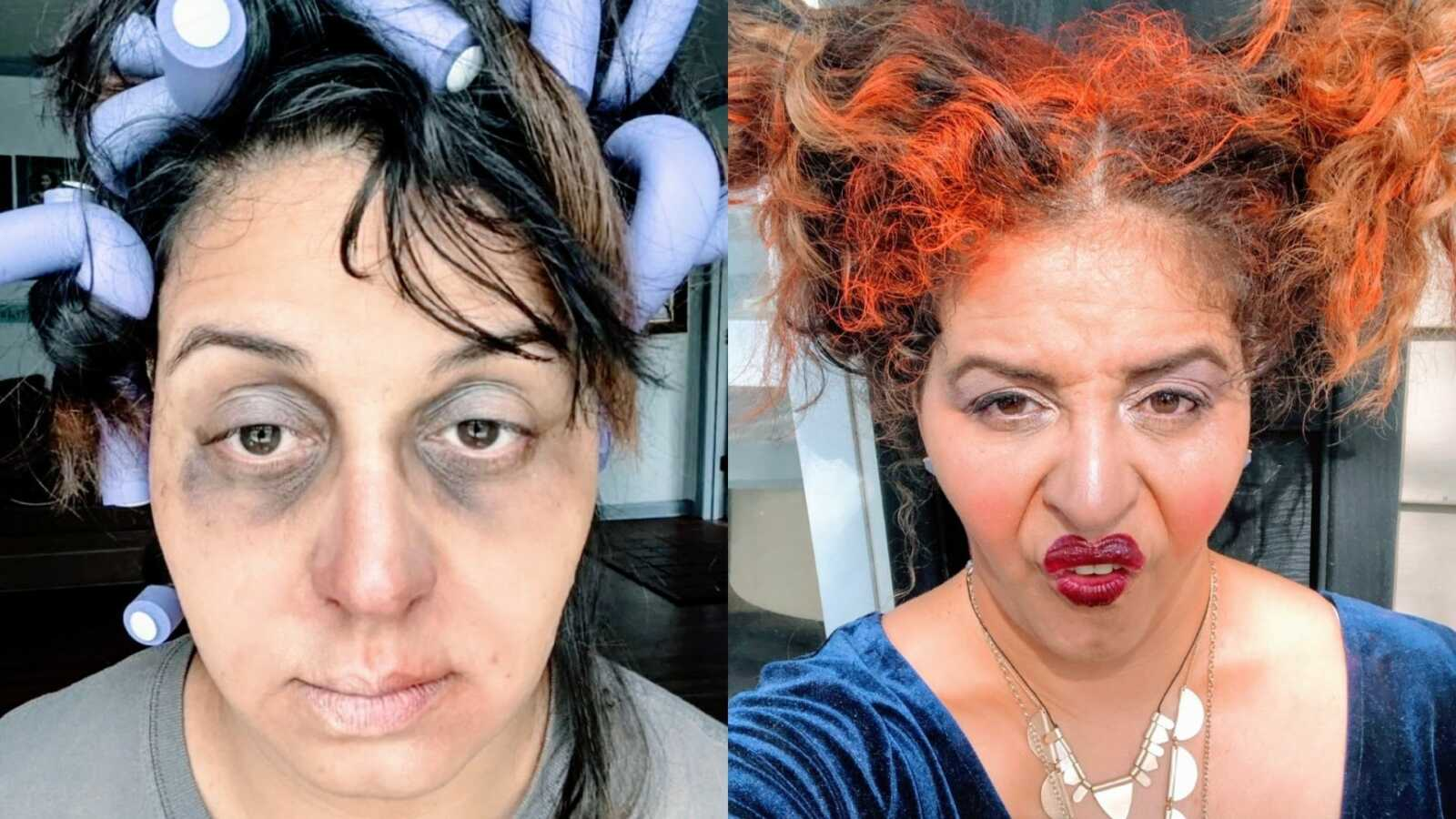 Mom shows off amazing DIY Halloween makeup looks, including mombie and Sanderson sister from Hocus Pocus