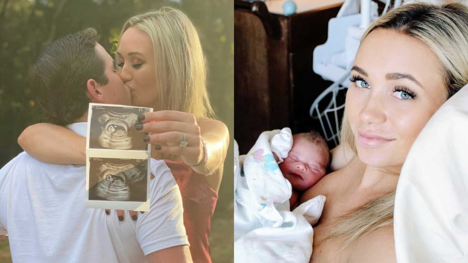 First time parents share photos through their pregnancy and delivery journey