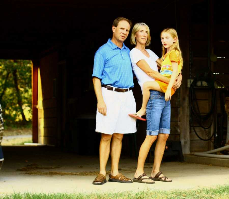 family with daughter who has celiac disease