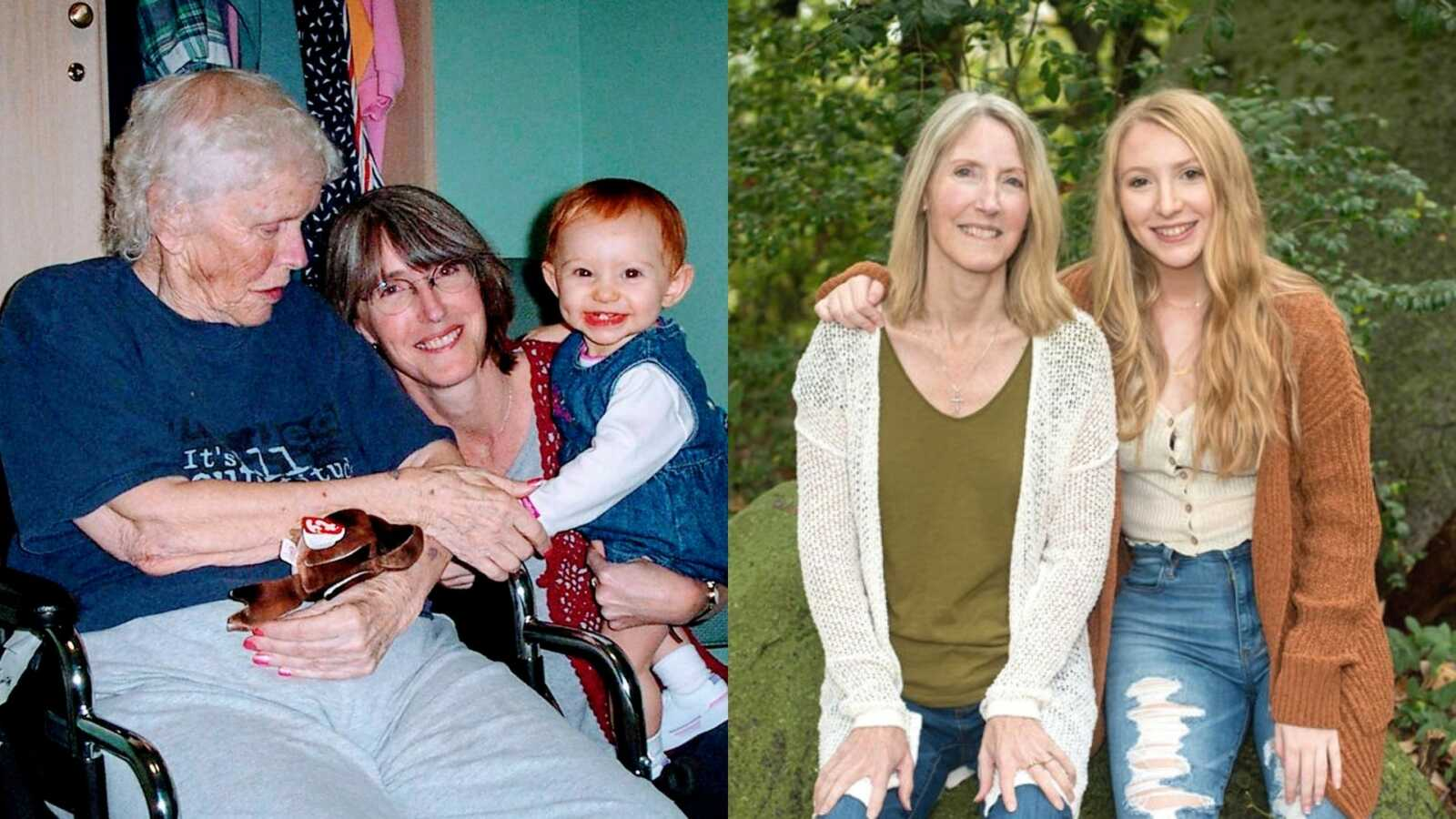Woman with mother and daughter and mother with daughter who has celiac