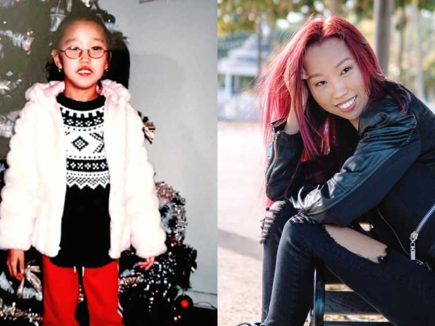 A girl with cerebral palsy and woman with cerebral palsy modeling
