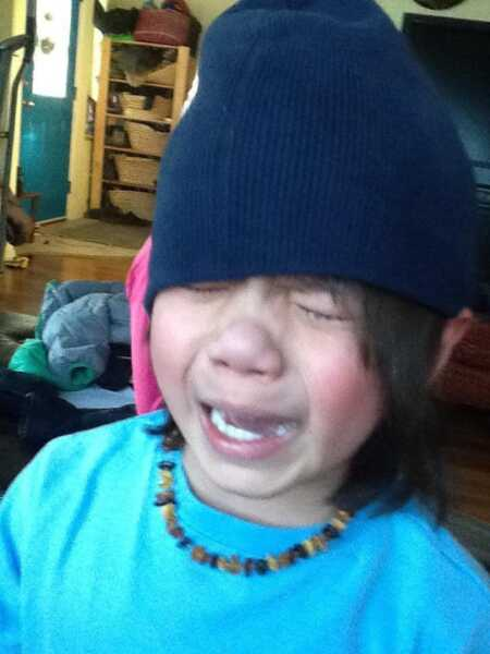 Toddler crying because they found out they're all out of Nutella.