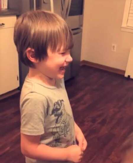 Young boy crying when he found out dinosaurs are extinct.